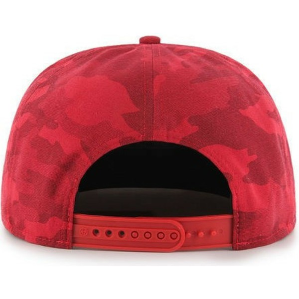 47-brand-flat-brim-cleveland-indians-mlb-captain-dt-red-camouflage-snapback-cap