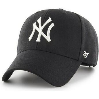 47 Brand Curved Brim New York Yankees MLB MVP Black Snapback Cap