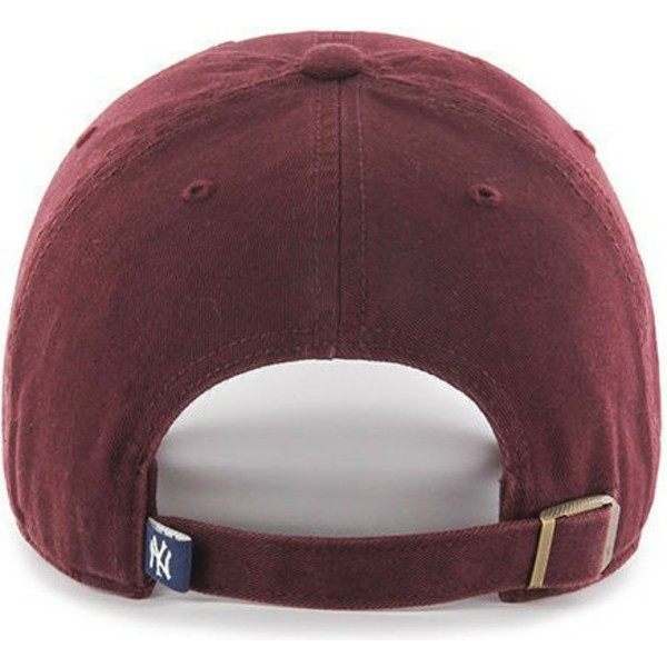 47-brand-curved-brim-black-logo-new-york-yankees-mlb-clean-up-maroon-cap