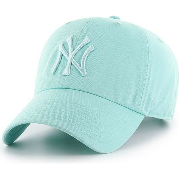 47-brand-curved-brim-light-green-logo-new-york-yankees-mlb-clean-up-light-green-cap