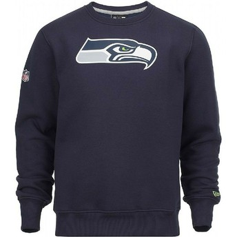 New Era Seattle Seahawks NFL Blue Crew Neck Sweatshirt