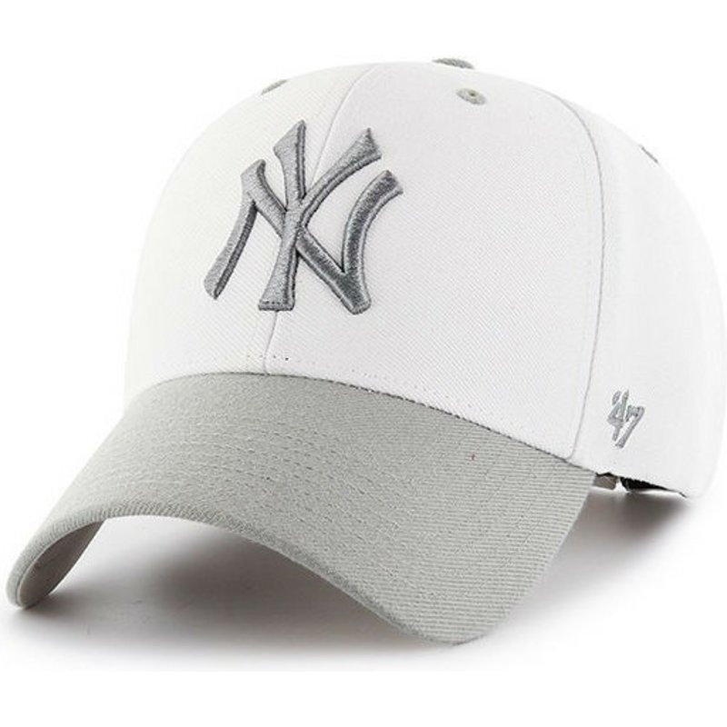 47-brand-curved-brim-new-york-yankees-mlb-audible-2-tone-mvp-white-cap