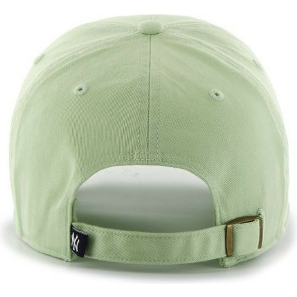 47-brand-curved-brim-white-logo-new-york-yankees-mlb-clean-up-light-green-cap