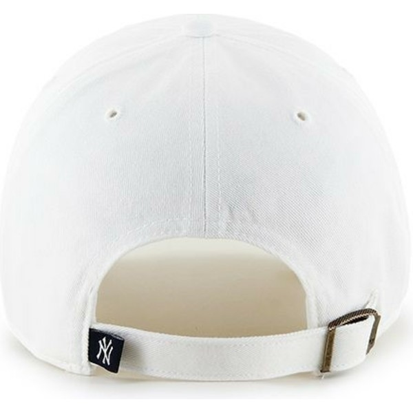 47-brand-curved-brim-new-york-yankees-mlb-clean-up-white-cap
