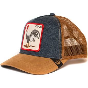 Goorin Bros. Rooster Big Strut Brown and Denim Trucker Hat