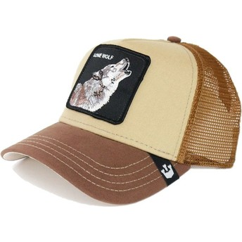 Goorin Bros. Wolf Howler Brown Trucker Hat