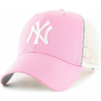 47 Brand New York Yankees MLB Pink Trucker Hat