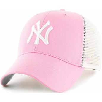 47 Brand New York Yankees MLB Pink Trucker Hat