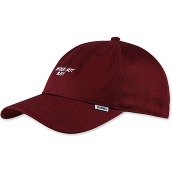 Djinns Curved Brim Texting Never Not Busy Red Adjustable Cap