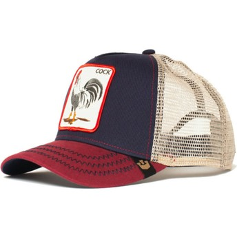 Casquette trucker bleue marine coq All American Rooster Goorin Bros.