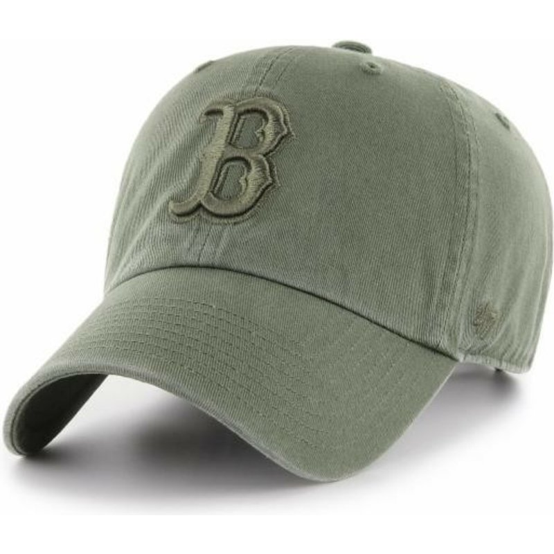 47-brand-curved-brim-green-logo-boston-red-sox-clean-up-green-cap