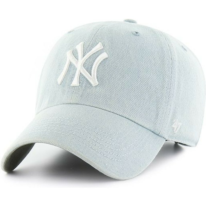 47-brand-curved-brim-new-york-yankees-mlb-clean-up-meadowood-light-blue-cap