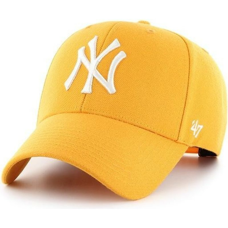 47-brand-curved-brim-new-york-yankees-mlb-mvp-gold-yellow-snapback-cap