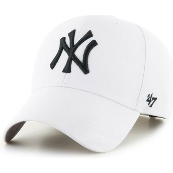 47 Brand Curved Brim New York Yankees MLB MVP White Snapback Cap