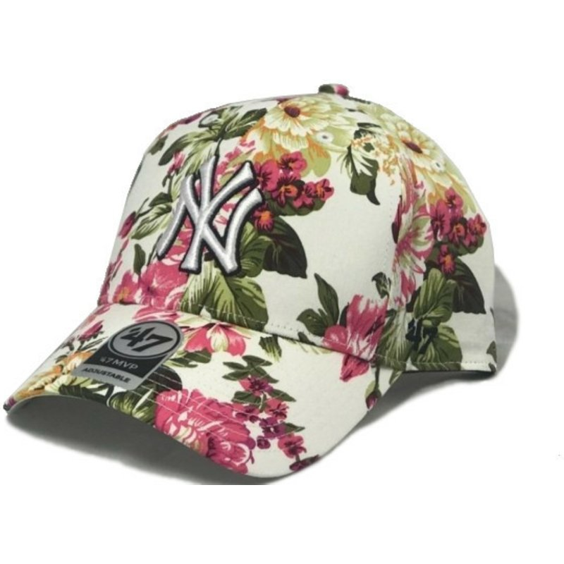47-brand-curved-brim-new-york-yankees-mlb-mvp-rosalynn-floral-print-multicolor-cap