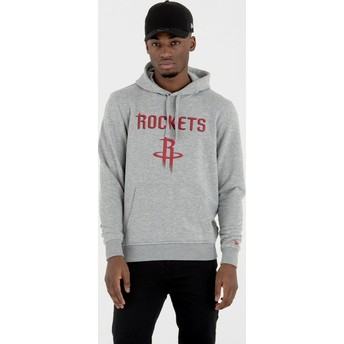 New Era Houston Rockets NBA Grey Pullover Hoody Sweatshirt