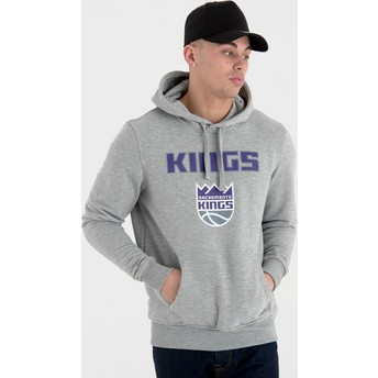 New Era Sacramento Kings NBA Grey Pullover Hoody Sweatshirt