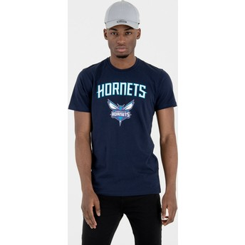 New Era Charlotte Hornets NBA Navy Blue T-Shirt
