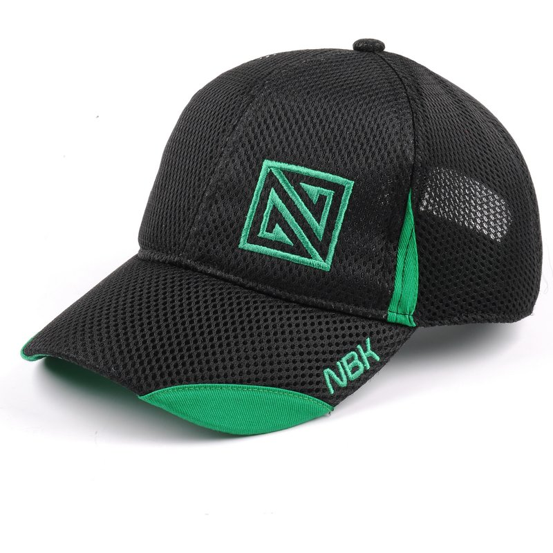 nonbak-curved-brim-mesh-black-adjustable-cap