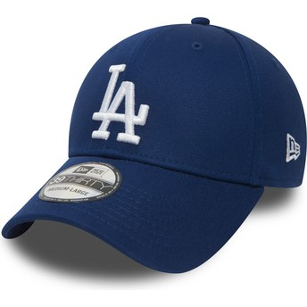 New Era Curved Brim 39THIRTY Essential Los Angeles Dodgers MLB Blue Fitted Cap
