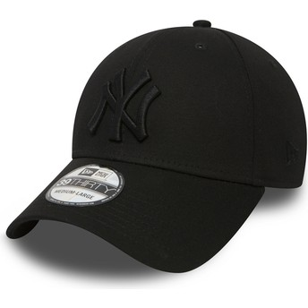 New Era Curved Brim 39THIRTY Classic New York Yankees MLB Black Fitted Cap