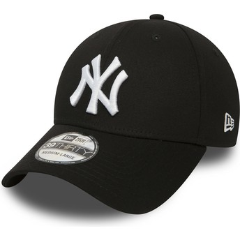 New Era Curved Brim 39THIRTY Classic New York Yankees MLB Black Fitted Cap