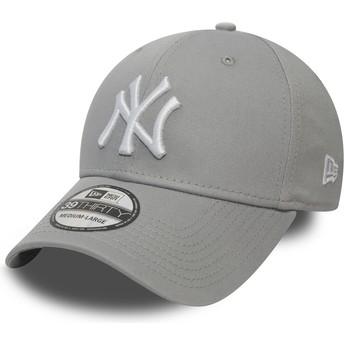 Casquette courbée grise ajustée 39THIRTY Classic New York Yankees MLB New Era