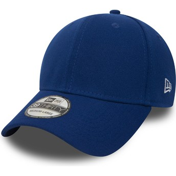New Era Curved Brim 39THIRTY Basic Flag Blue Fitted Cap