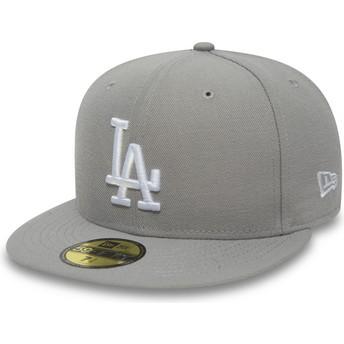 Casquette plate grise ajustée 59FIFTY Essential Los Angeles Dodgers MLB New Era