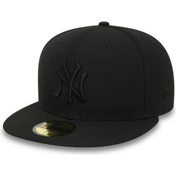 Casquette plate noire ajustée 59FIFTY Black on Black New York Yankees MLB New Era