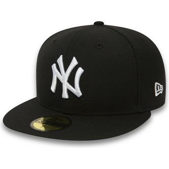 New Era Flat Brim 59FIFTY Essential New York Yankees MLB Black Fitted Cap