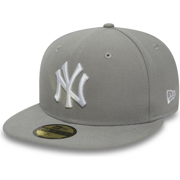 new-era-flat-brim-white-logo9fifty-essential-new-york-yankees-mlb-grey-fitted-cap