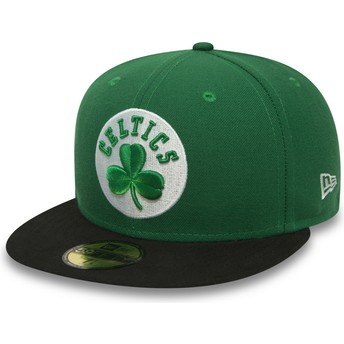 New Era Flat Brim 59FIFTY Essential Boston Celtics NBA Green Fitted Cap