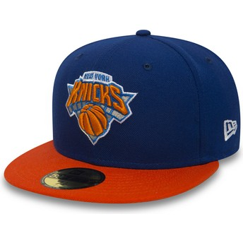 New Era Flat Brim 59FIFTY Essential New York Knicks NBA Blue Fitted Cap