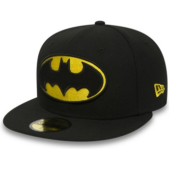 New Era Flat Brim 59FIFTY Batman Character Essential Warner Bros. Black Fitted Cap