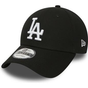Casquette courbée noire ajustable 9FORTY Essential Los Angeles Dodgers MLB New Era