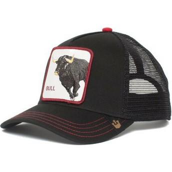 Casquette trucker noire bull Bull Honky Goorin Bros.