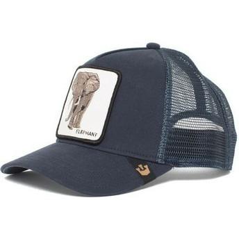 Casquette trucker bleue marine éléphant Elephant Goorin Bros.