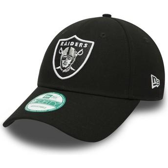 New Era Curved Brim 9FORTY The League Las Vegas Raiders NFL Black Adjustable Cap