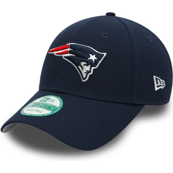 New Era Curved Brim 9FORTY The League New England Patriots NFL Navy Blue Adjustable Cap