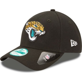 New Era Curved Brim 9FORTY The League Jacksonville Jaguars NFL Black Adjustable Cap