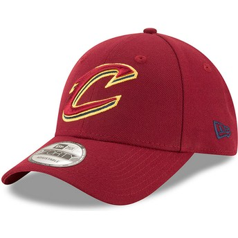 New Era Curved Brim 9FORTY The League Cleveland Cavaliers NBA Red Adjustable Cap