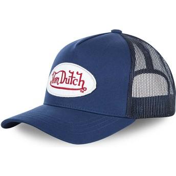 Von Dutch Curved Brim BMMARI Blue Adjustable Cap