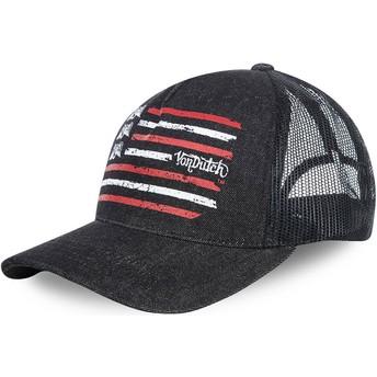 Von Dutch FLAG Black Trucker Hat
