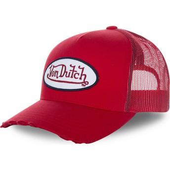 Von Dutch FRESH01 Red Trucker Hat