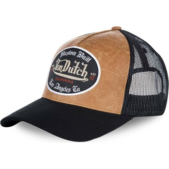 Von Dutch GRL Brown and Black Trucker Hat