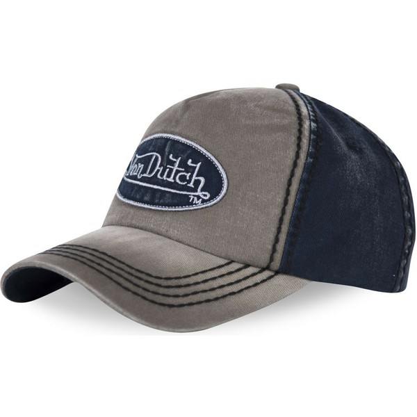 von-dutch-curved-brim-ilan02-grey-and-navy-blue-adjustable-cap