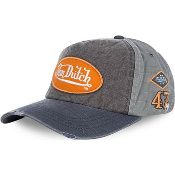 Von Dutch Curved Brim JACKGM Grey Adjustable Cap