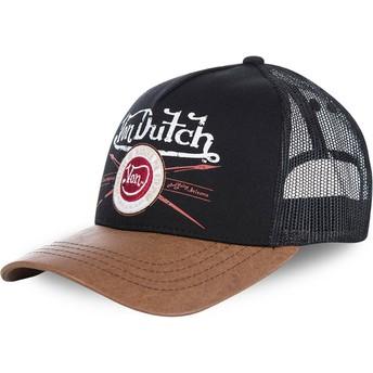 Von Dutch PIN Black and Brown Trucker Hat