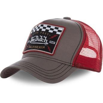 Von Dutch SQUARE17 Brown and Red Trucker Hat